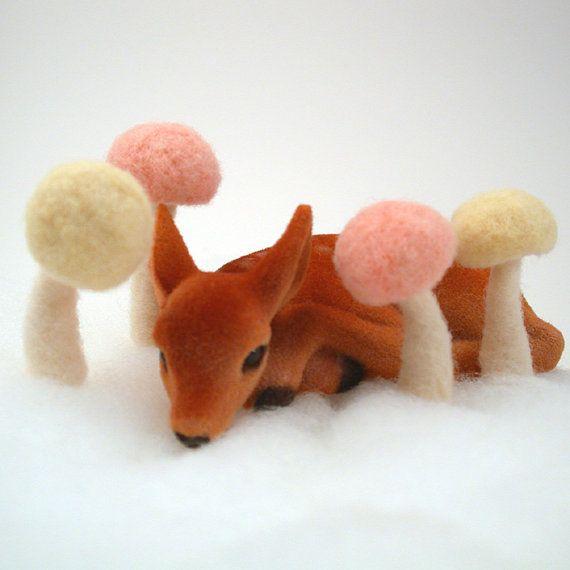 felted mushrooms!  Foxtail Creek - Etsy
