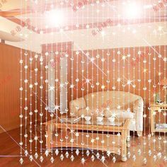 Bead Curtain Crystal Bead Curtain For Partition Entranceway Glass Bead  Curtains Fashion Door Curtain $56.92