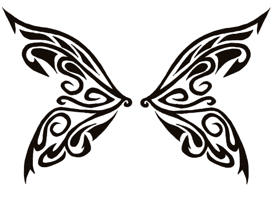 Tribal Butterfly Wings By Tribal Tattoos On Deviantart Tribal Tattoos Tribal Butterfly Butterfly Wing Tattoo