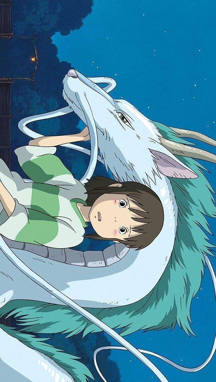 phone wallpaper anime handyhintergrundbild Ghibli