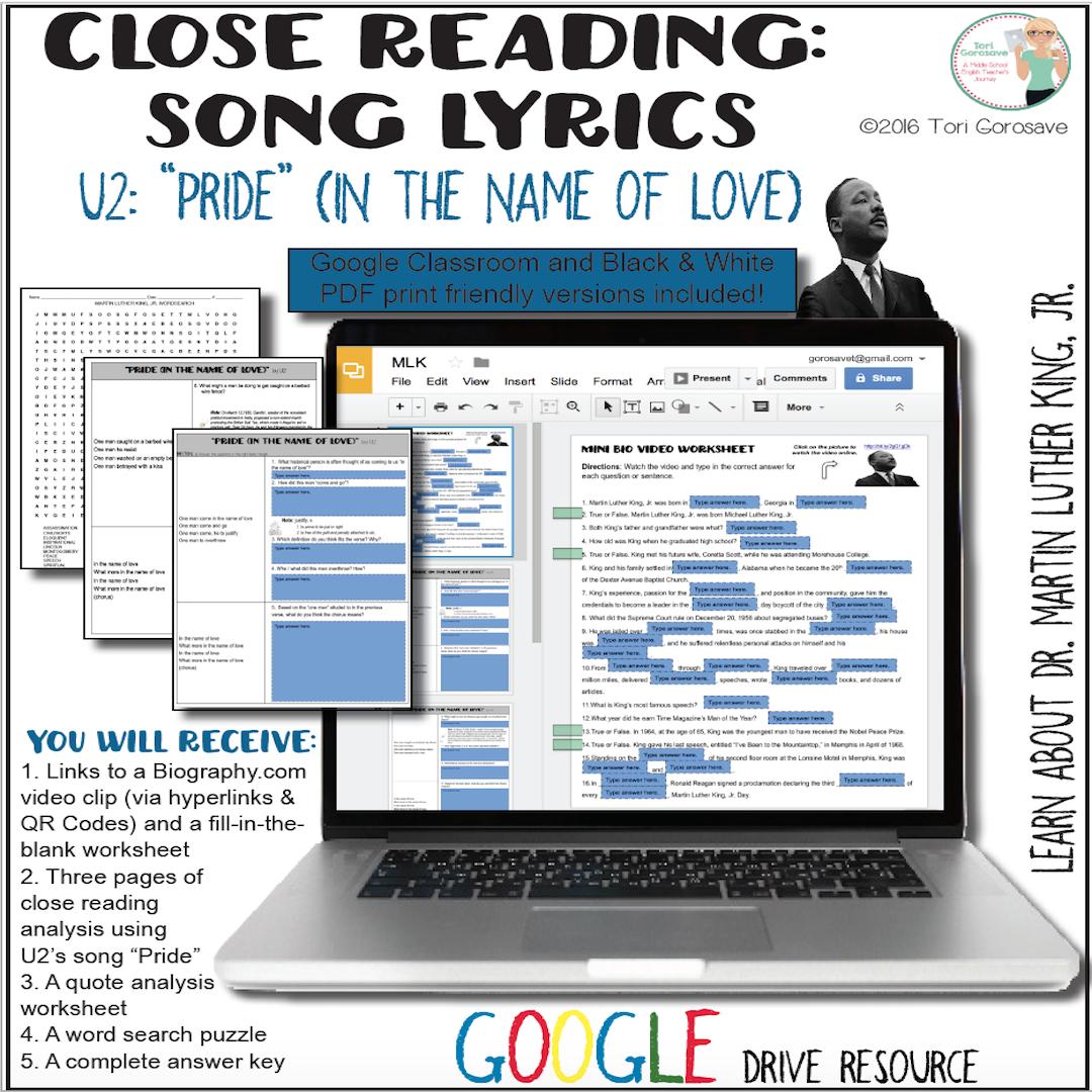 Songysis U2 S Pride Mlk Resource Digital
