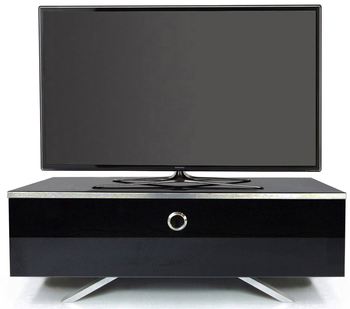 Mda Designs Cubic Hybrid High Gloss Black Tv Stand