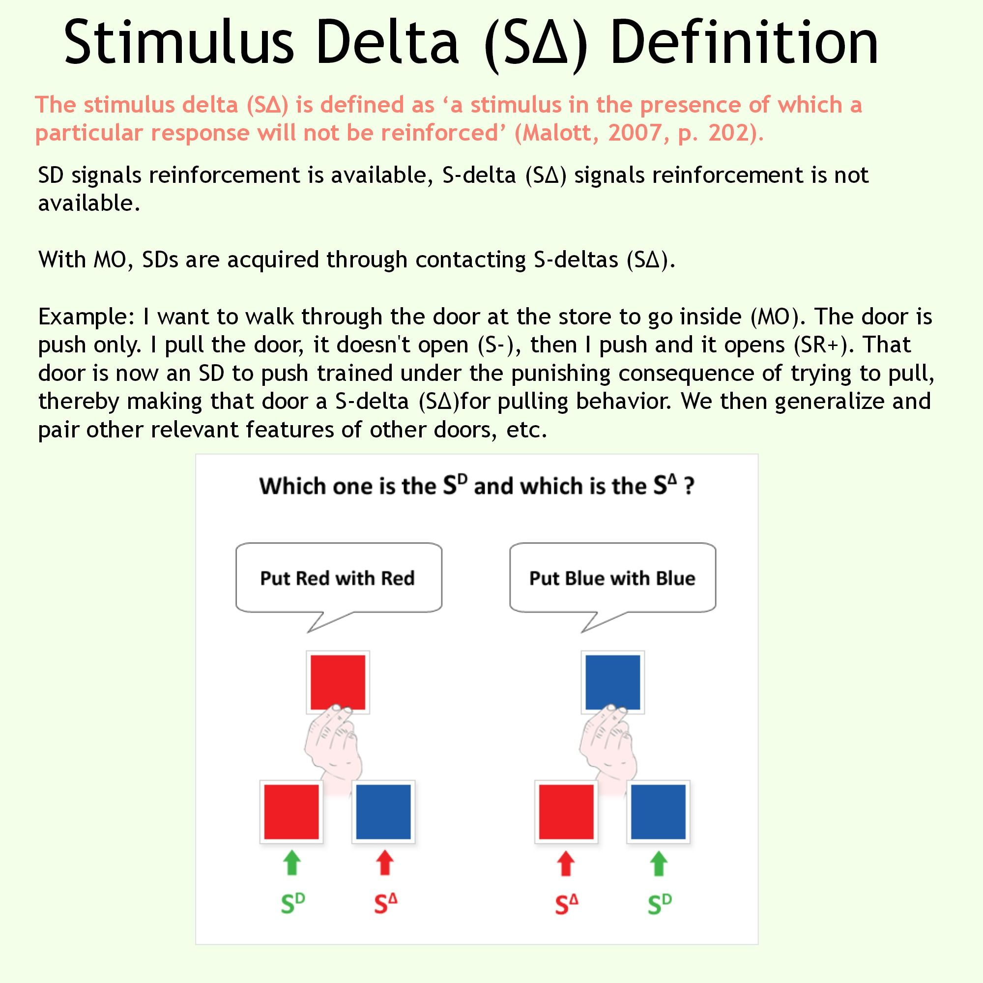 Stimulus delta s bcba pinterest aba applied behavior stimulus delta s xflitez Images