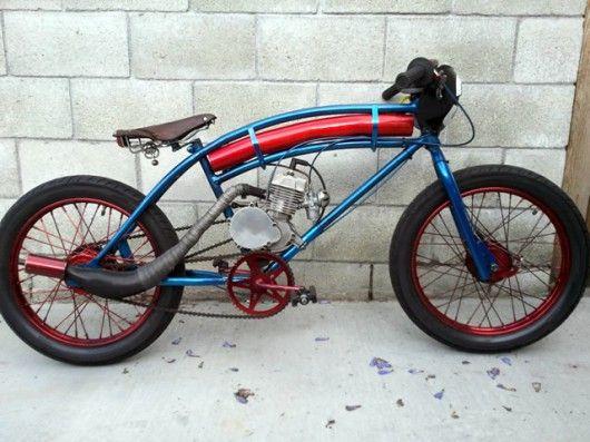 Gasoline Engines Make Bicycle Racing More Fun Cool Bikes Motorcycle Bike Motorised