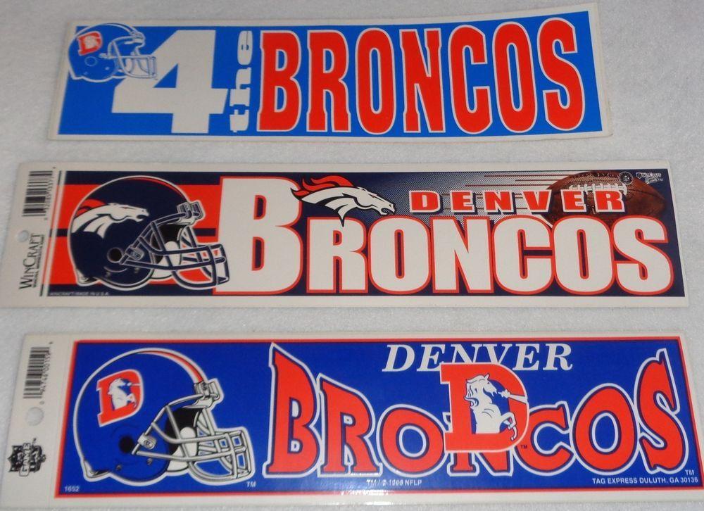 Denver broncos bumper stickers lot of