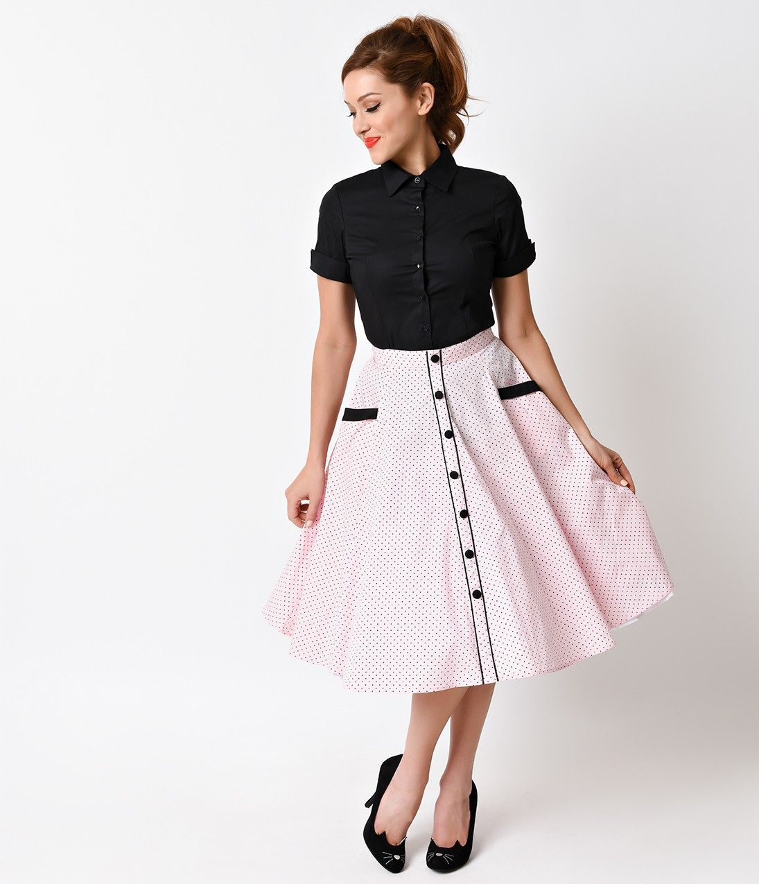 Hell Bunny 1950s Style Houndstooth Jackson Pencil Skirt | Swing ...