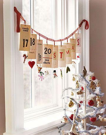 Calendarios de adviento para navidad - Guía de MANUALIDADES