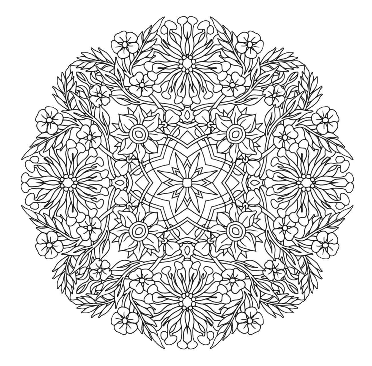 Advanced Mandala Coloring Pages Beautiful Mandala To Magical Flowersfrom The Gallery Mandala Coloring Pages Mandala Coloring Flower Coloring Pages