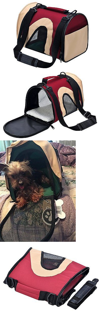Carriers and Totes 177788: Cat Carrier Airline Approved Travel Portable Bag For Teacup Puppy Pet Red Small BUY IT NOW ONLY: $32.73