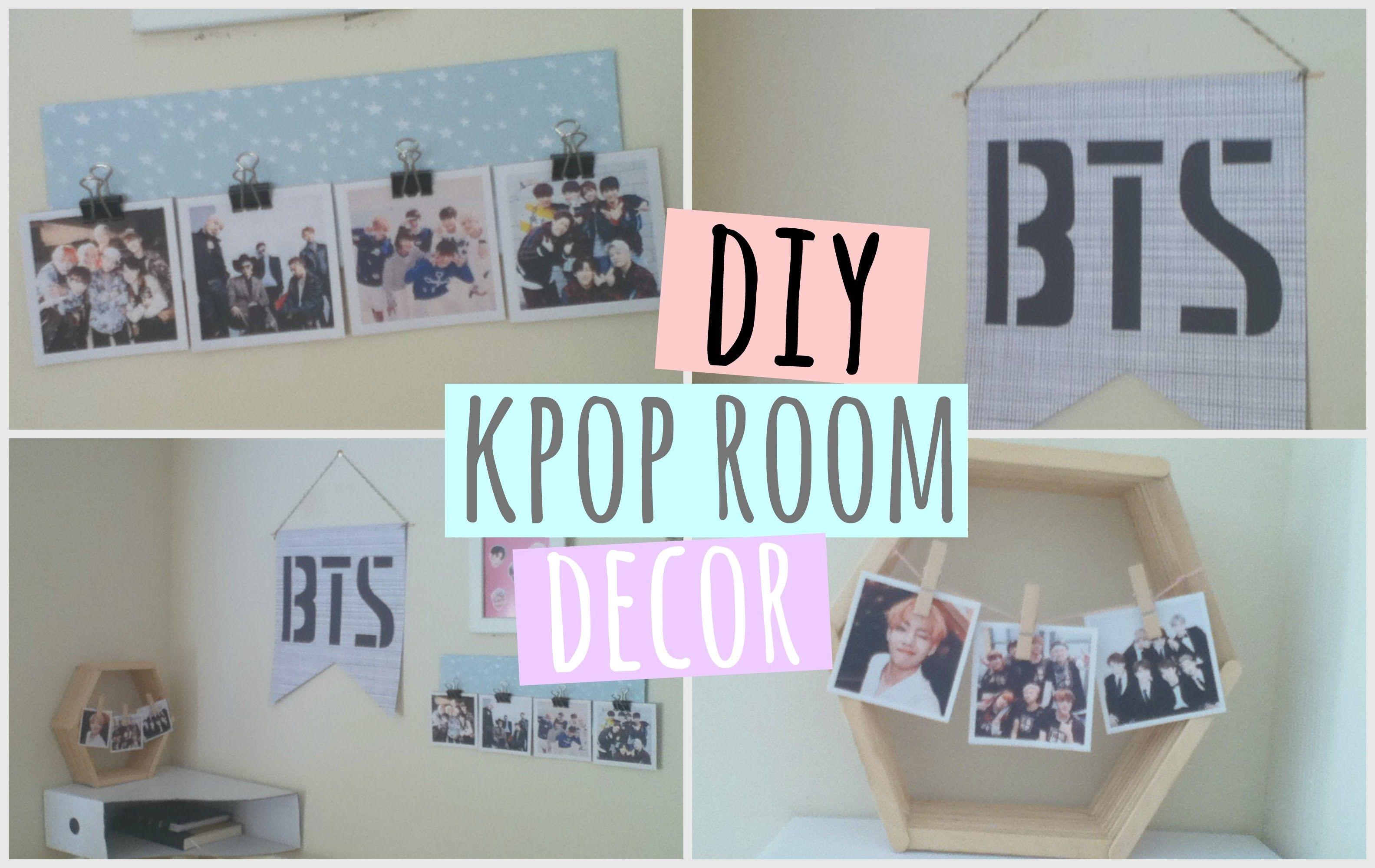 #BTS DIY Decor | ♫KPOP DIY♫ in 2019 | Room decor, Bedroom ... on Room Decor Bts id=88475