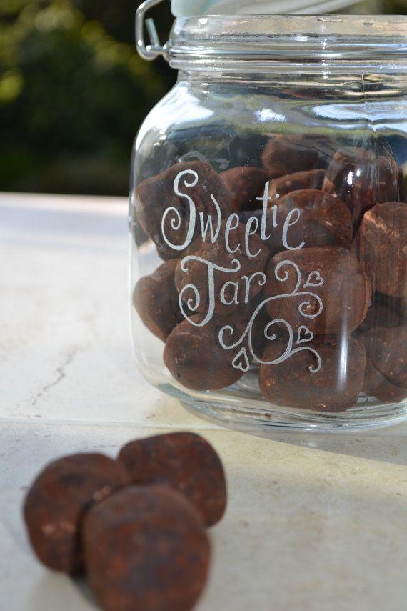 Airtight Cookie Jar Personalised Glass Cookie Jar  Romantic Love Note Jar  Custom