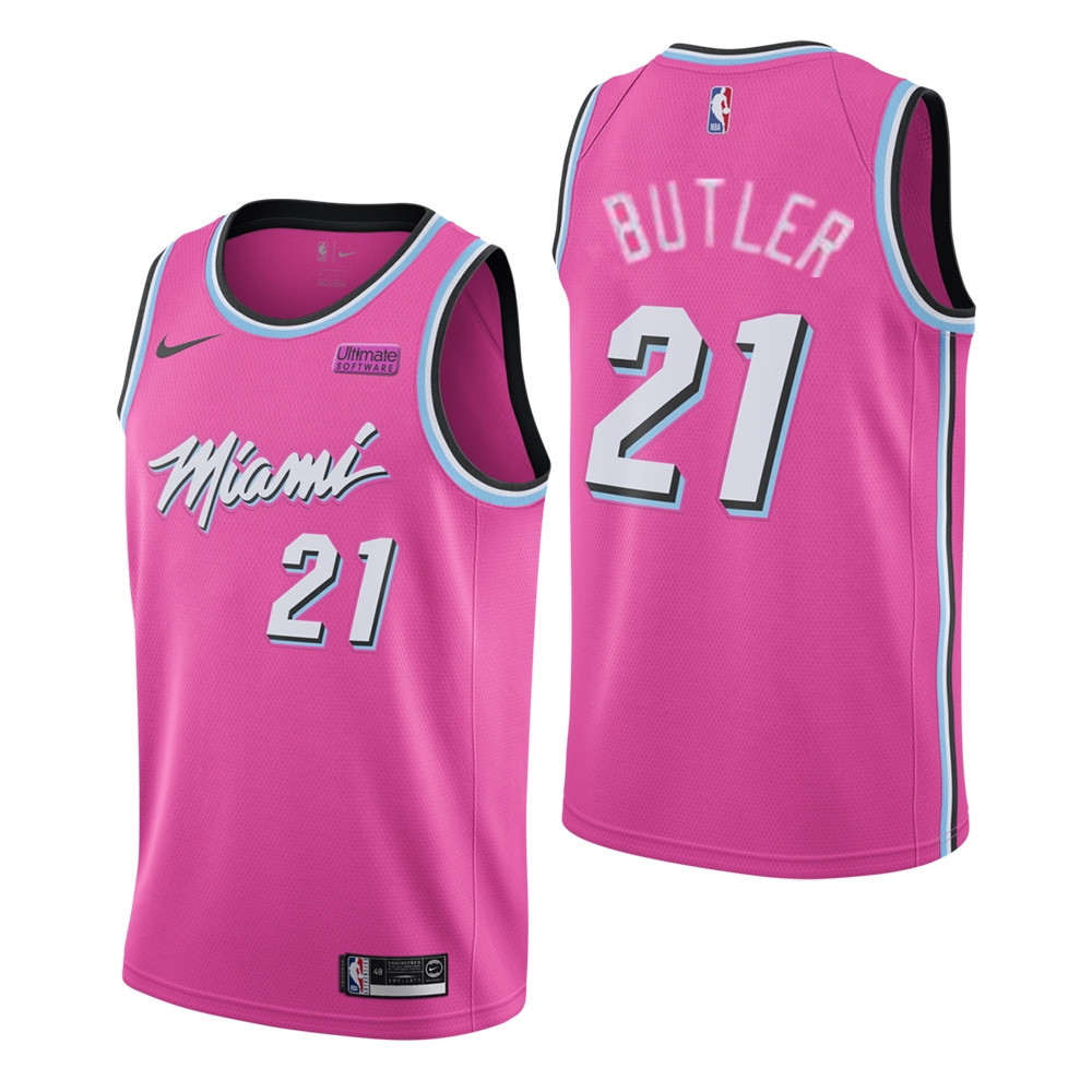 Men S Miami Heat 21 Jimmy Butler Pink City Edition Nike Swingman Stitched Nba Jersey Nba Jersey Jersey Amazing Shopping