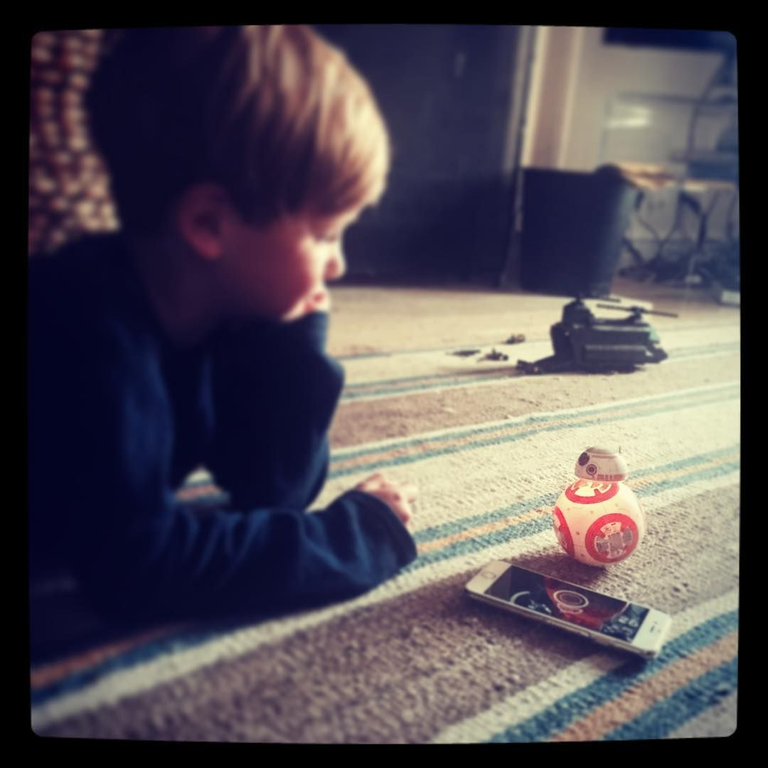 """Mybaba on Instagram: """"Thank you @disney and @gosphero for letting us try out the ultimate #boyspresents this is going to be #number one on a lots of #christmaslists2015 The #bb8 #starwars #droid #toy #smartphonecontrolled #robot #newbestfriend"""""""