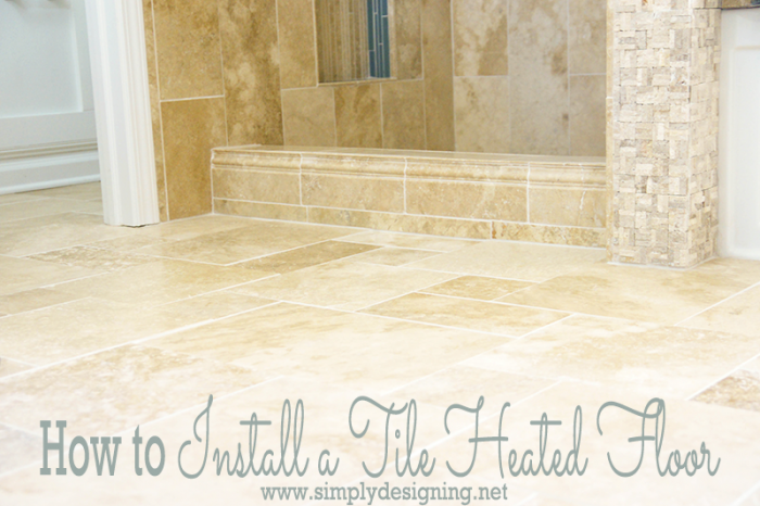Master bathroom remodel part 7 how to install radiant heated tile diy heated tile floors heated tile floors are such a luxury but so easy to do it yourself come and see how we installed a new radiant floor heating solutioingenieria Gallery