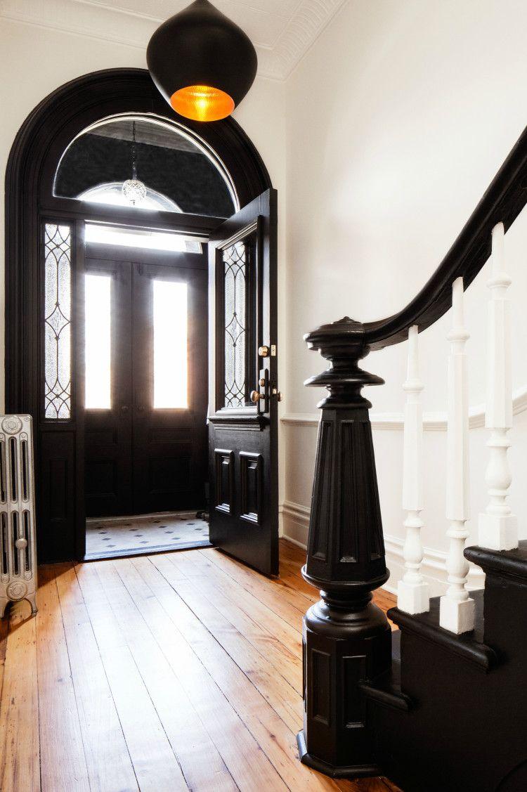 Home interior front black u white entrance  chaplin house  apartment interiors