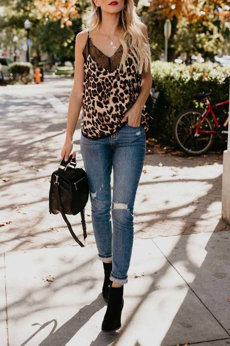 986dda6eff59 cheetah print camisole top retro leopard tank top outfit jeans black lace  trim vest top cami tank top spaghetti straps v neck lace camisole shirt