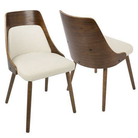 Anabelle Mid Century Modern Dining Chair By Lumisource Cream