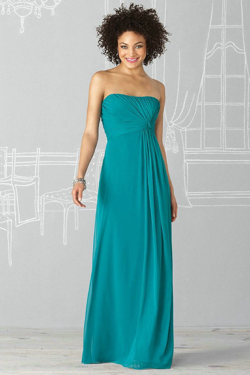 Strapless ruched floor length long bridesmaid dress 2012 on sale strapless ruched floor length long bridesmaid dress 2012 on sale maybe in grey similar to ombrellifo Choice Image