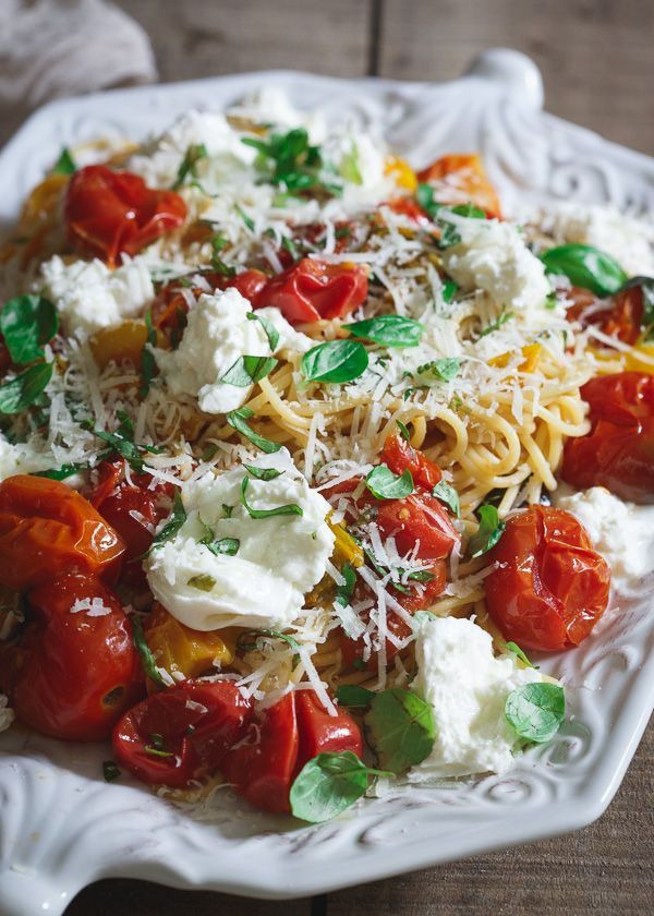 Pasta checca with burrata a classic summer italian pasta dish food forumfinder Choice Image