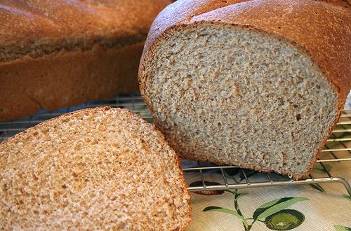 Whole wheat sprouted bread
