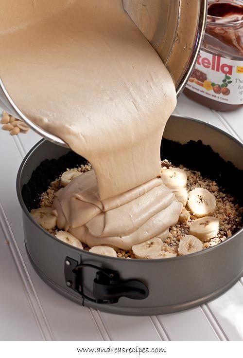 peanut butter banana pie with nutellaaaaa! omg omg omg!
