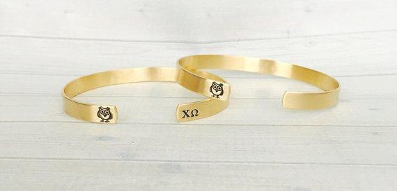 Alpha Delta Pi Sorority Bangle Cuff BraceletSorority GiftsBig and Little