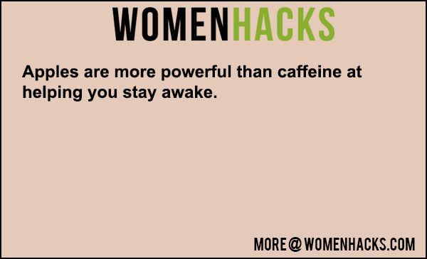 Stay Awake With Apples   #ApplesLifeHack, #Caffine, #Health   Stay Awake  Ways To Stay Awake