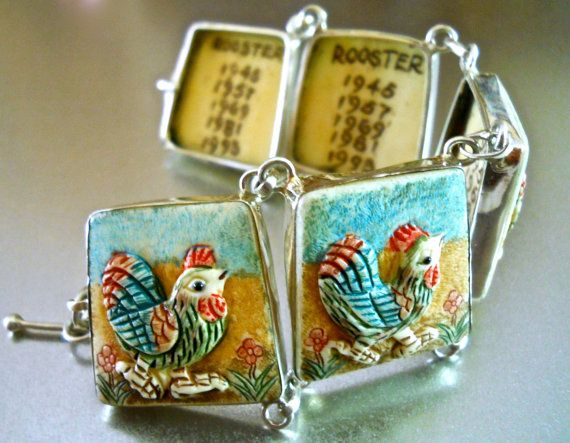 Chinese Sterling Silver Bracelet Carved by RenaissanceFair on Etsy
