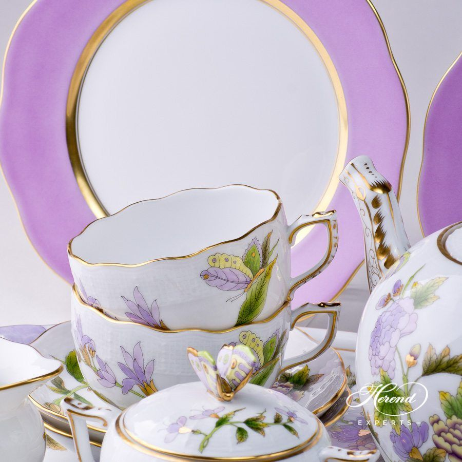 Lilac dessert plates are awesome with the Royal Garden tea set! & Lilac dessert plates are awesome with the Royal Garden tea set ...
