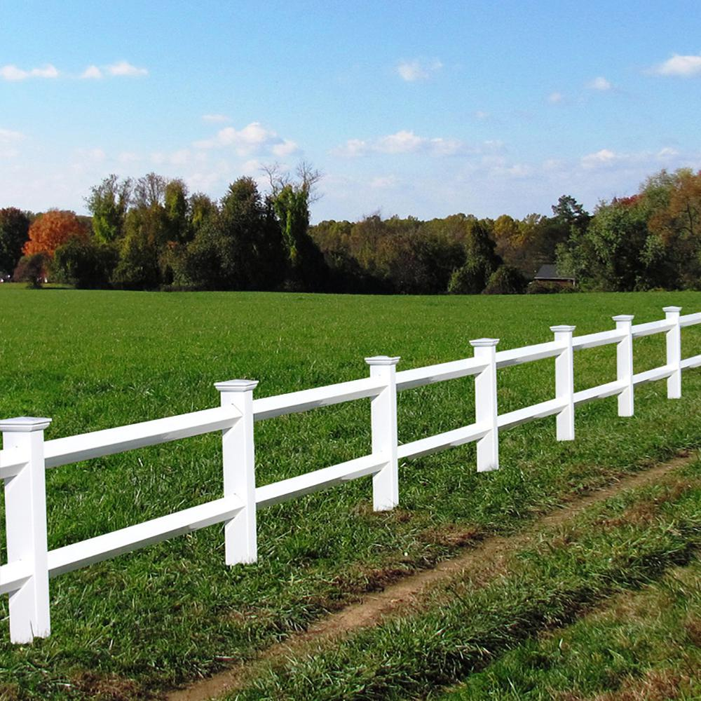 Front Yard Landscaping Discover Weatherables 2 Rail Diamond 3 Ft X 8 Ft White Vinyl Fence Panel With 2 Rails In 2020 Vinyl Fence Panels White Vinyl Fence Fence Panels