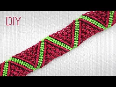 how to make a macrame zigzag surf bracelet youtube bracelet pattern. Black Bedroom Furniture Sets. Home Design Ideas