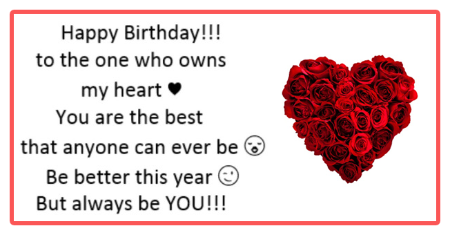 Happy Birthday Messages For Boyfriend With Images And Pictures