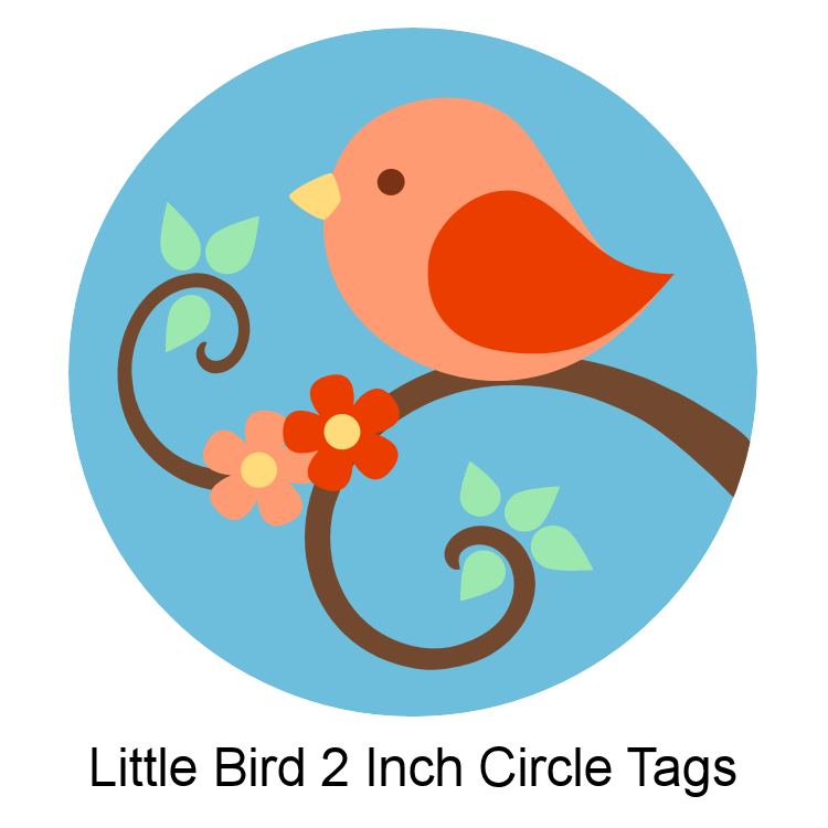 little bird 2 inch circle tags free printable - Printable Bird Pictures 2