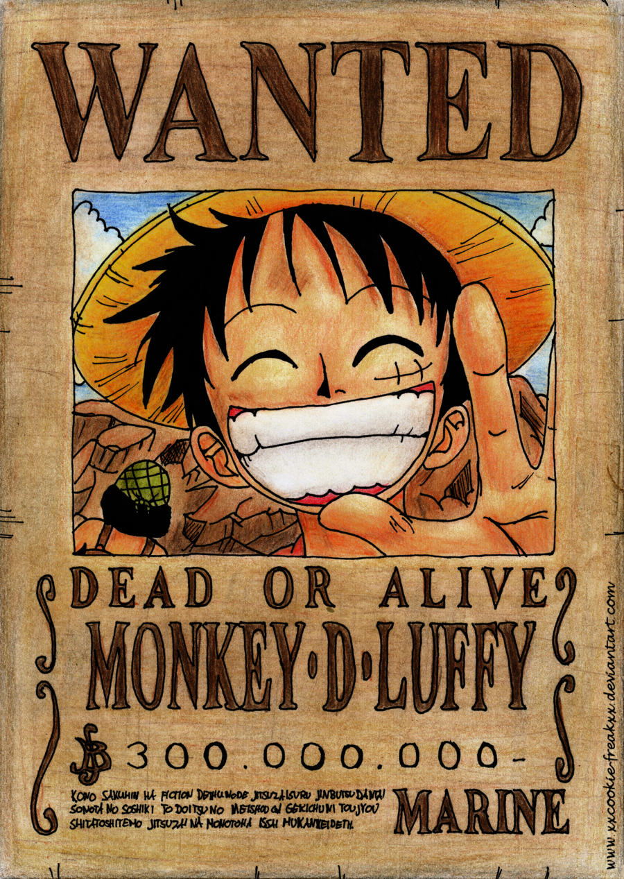luffy wanted poster wallpaper anime e manga pinterest. Black Bedroom Furniture Sets. Home Design Ideas