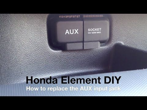 Replace AUX Jack - Honda Element - DIY - YouTube