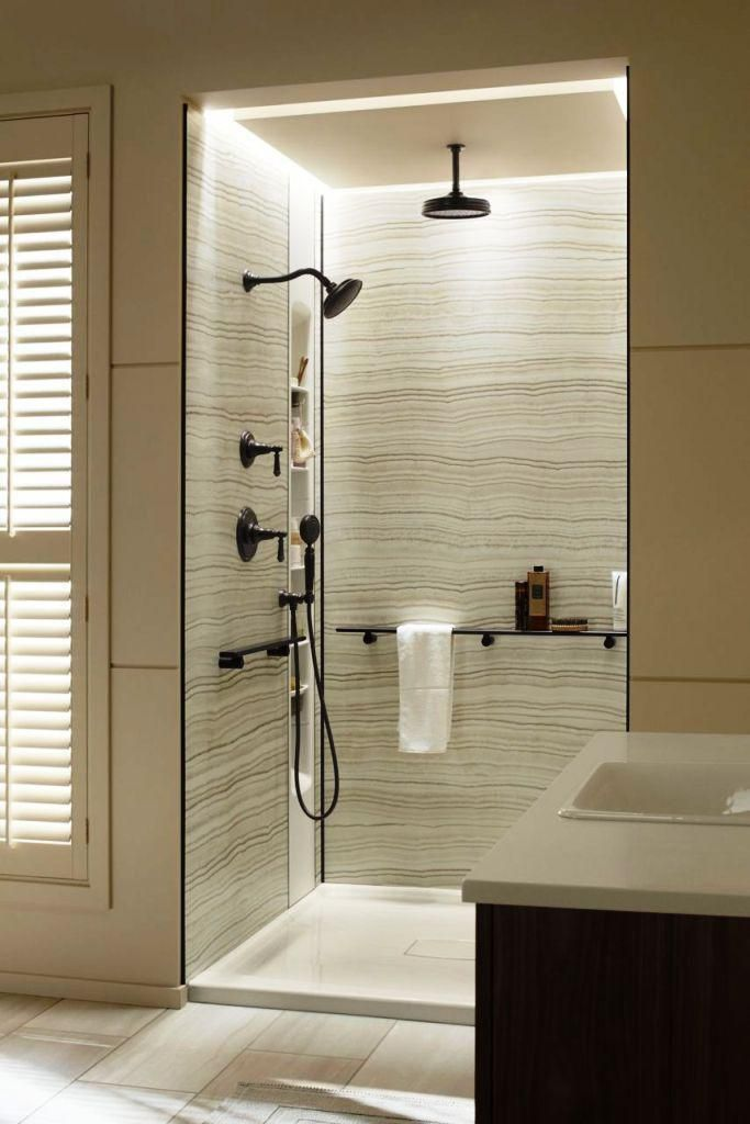 Waterproof Wall Panels For Showers All In One Wall Ideas Bathroom Trends Shower Remodel Shower Panels