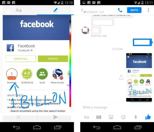 Facebook Messenger for Android now lets you draw and write on photos | Tech News Blog
