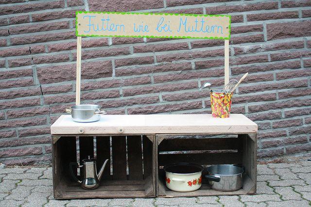 Kindermatschkuche Fur Den Garten Diy Spielkuche Kinder Garten