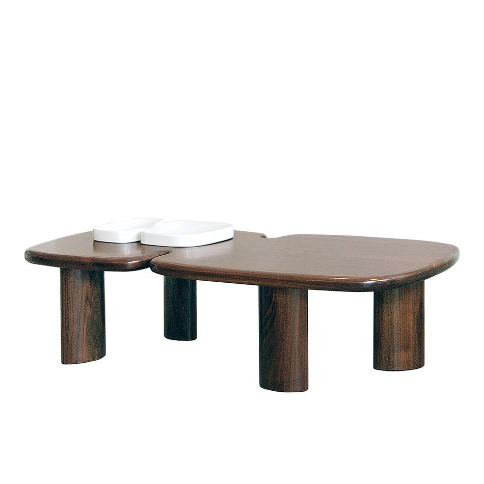 Ralph Pucci International India Mahdavi Bicephale Coffee Table Walnut Brass 54 L X 29 D X 15 H Coffee Table Table Walnut Coffee Table [ 950 x 950 Pixel ]