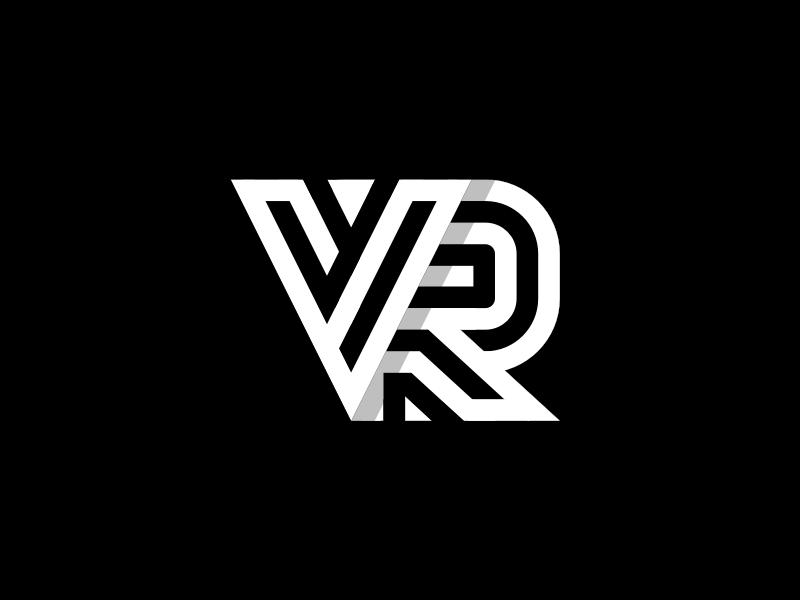Vr Monogram Logo Design Initials Logo Design Vr Logo