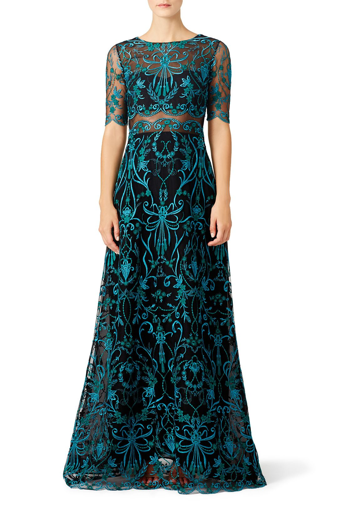 2a5df36c Marchesa Notte Teal Elizabeth Gown (I have unlimited and this bad boy is  already at my home, so it's happening!)