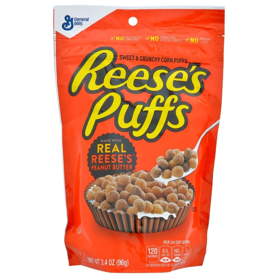 Reese S Puffs Sweet And Crunchy Corn Puffs Cereal 3 4 Oz Bags
