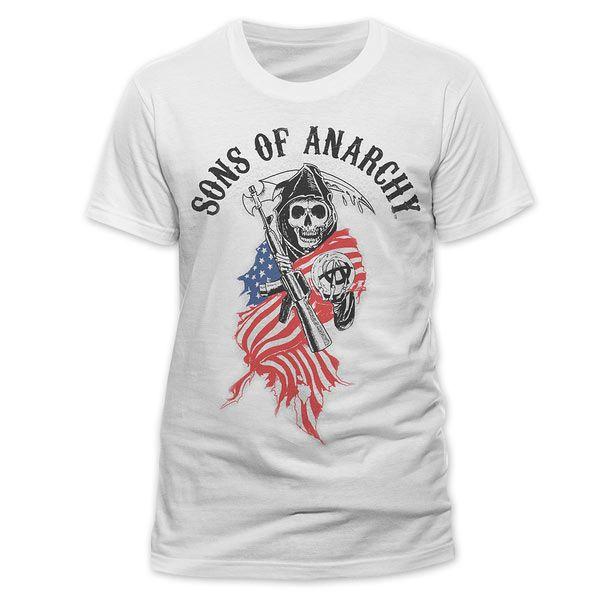 Camiseta Sons Of Anarchy Bandera Camiseta Perteneciente A La Serie De Tv Sons Of Anarchy Sons Of Anarchy Reaper Sons Of Anarchy Shirts