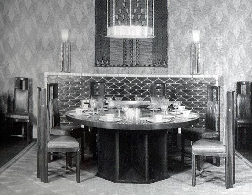 Eliel Saarinen Dining Room Designed For The Metropolitan Museum Of Art 1929 Ex Hibition