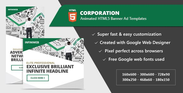Corporation banner ad templates html5 animated gwd animated corporation business banner ad templates html5 animated gwd created with google web designer corporate maxwellsz