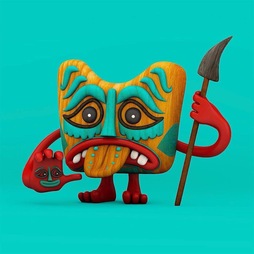 Thanks again to @markgmehling and @pictoplasma for helping me learn some new skill on the Pictoplasma short course last week. It was an eye opener. #character #maxon #c4d by josephlattimer