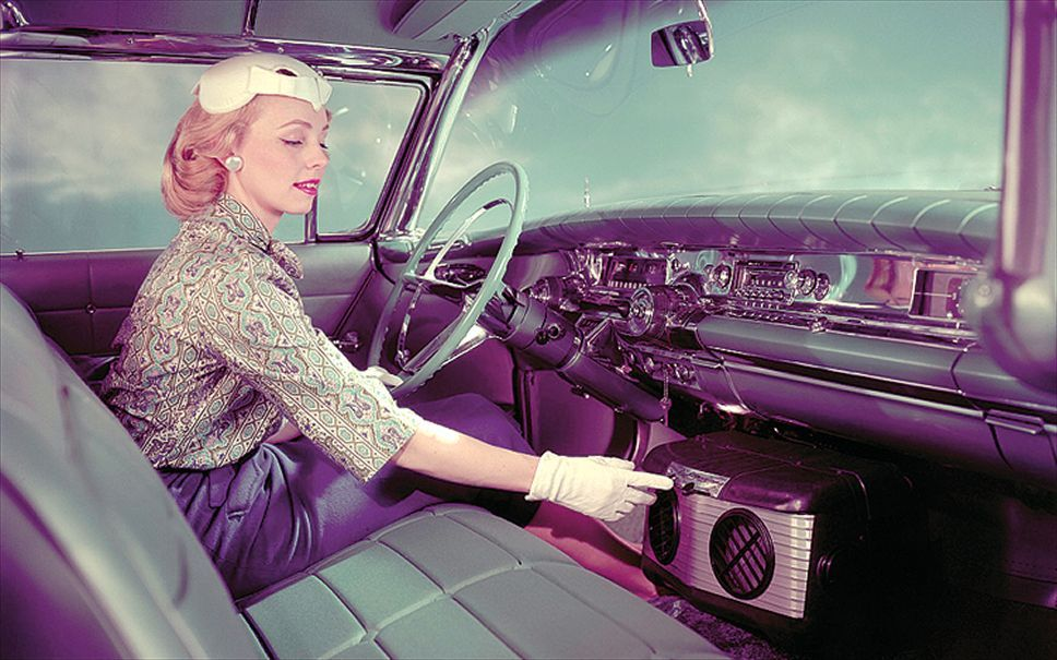 Automotive Air Conditioning Vintage Car Interior | Autointerior-from ...