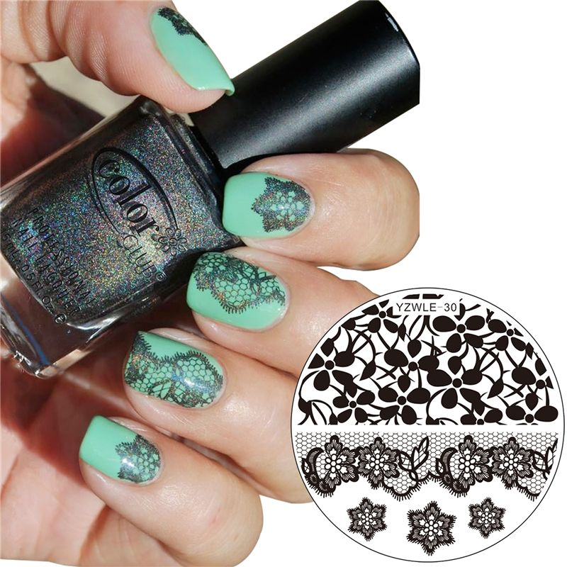 2017 new beauty nail stamping plates nail art image konad nail art 2017 new beauty nail stamping plates nail art image konad nail art stamps plates manicure template prinsesfo Images