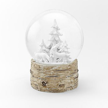 Snowglobes , Deer + Pines + Birch Base