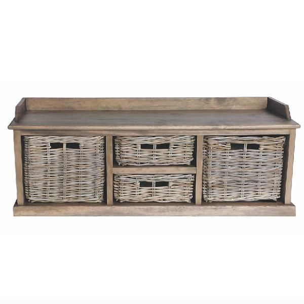 Rattan May Reclaimed Wood Storage Unit With Images Low Storage Unit Wood Storage Unit Storage Bench